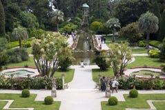 Garden in Villa Ephrussi de Rothschild Royalty Free Stock Photography