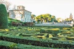 The garden of villa lante Stock Images