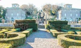 The garden of villa lante Royalty Free Stock Photo