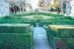 The garden of villa lante Royalty Free Stock Image