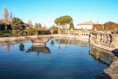 The garden of villa lante Stock Photo