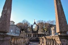The garden of villa lante Royalty Free Stock Photography