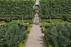 Garden in Villandry Chateau Stock Image