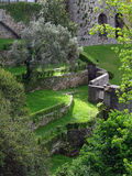 Garden Virtues Porto. Interior view of Jardim Das Virtudes (the Garden of Virtues) located in the center of Porto in Portugal. The terraced garden is open to the Royalty Free Stock Photos