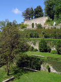 Garden Virtues Porto. Interior view of Jardim Das Virtudes (the Garden of Virtues) located in the center of Porto in Portugal. The terraced garden is open to the Stock Image