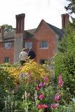 Garden visitors. Enjoying an English country garden stock image