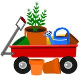 Garden wagon Royalty Free Stock Photography