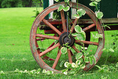 Garden Wagon and Wheel Royalty Free Stock Photos