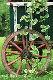Garden Wagon and Wheel Royalty Free Stock Images