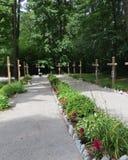 Garden Walk of Crosses Stock Photo