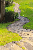 Garden walk way Stock Images