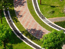 Garden walkway Royalty Free Stock Images
