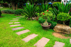 Garden Walkway Royalty Free Stock Photos