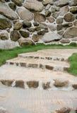 The garden walkways. Stock Images