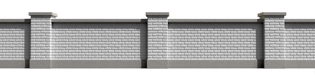Garden Wall White Front Royalty Free Stock Photography