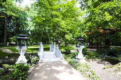 Garden in Warsaw, Poland. The largest and prettiest City Garden in Europe, we know it under the name of Bathrooms (Łazienki) in Warsaw stock photos