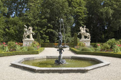 Garden of Wasserburg Anholt, Germany Royalty Free Stock Images