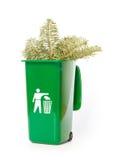 Garden waste in the green wheelie bin Royalty Free Stock Photos