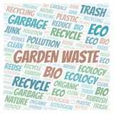 Garden Waste word cloud. Wordcloud made with text only royalty free illustration