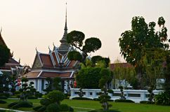 Garden in wat arun areal. Beautiful garden in wat arun temple areal in bangkok Stock Photos
