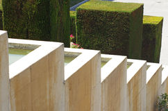 Garden water cascade. In Barcelona,Spain Stock Photos
