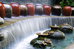 Garden water falls. Stock Photos