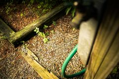 Sprintime faucet in the garden2. royalty free stock photos