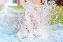 Garden water slide Stock Images