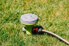 Garden Water Sprinkler Irrigation Royalty Free Stock Photos