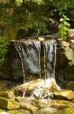 Garden waterfall. Garden feature waterfall in Martin Mere stock image