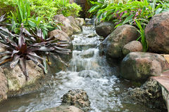 Garden waterfall Royalty Free Stock Photography