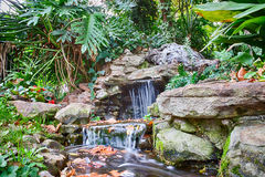 Garden Waterfall paradise Royalty Free Stock Photo