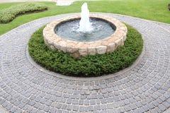 Garden waterfalls. In real garden Royalty Free Stock Images