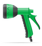 Garden watering gun vector illustration Royalty Free Stock Photo