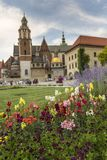 Garden in Wawel Castle, Cracow, Poland Royalty Free Stock Photography