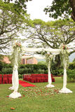 Garden wedding arch decoration Royalty Free Stock Images
