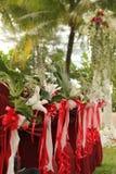 Garden wedding decoration Royalty Free Stock Image