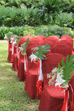 Garden wedding decoration Stock Image