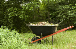 Garden Wheelbarrow Royalty Free Stock Images