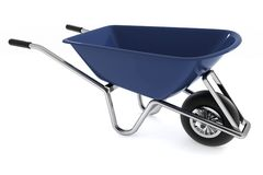 Garden wheelbarrow Stock Photo