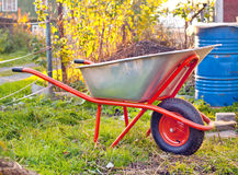 Garden wheelbarrow Royalty Free Stock Photos