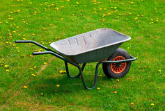 Garden-wheelbarrow Stock Images