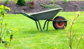 Garden-wheelbarrow Royalty Free Stock Photos