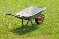 Garden-wheelbarrow Royalty Free Stock Images