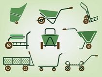 Garden wheelbarrow Royalty Free Stock Photography