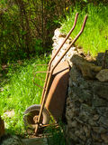 Garden wheelbarrow after work Royalty Free Stock Photography