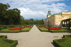 Garden in Wilanow, Warsaw Royalty Free Stock Photo