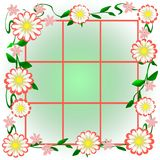 Garden window view Royalty Free Stock Images