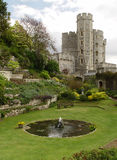 Garden in the Windsor Castle. Edward tower Stock Photos