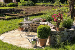 Garden With Place For Relaxing Stock Photo